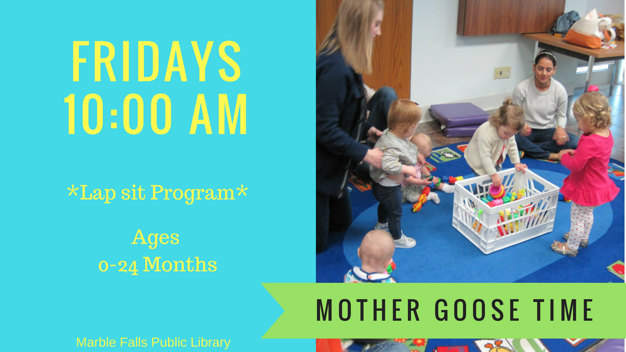 Mother Goose Fridays 10am Ages 0-2